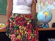 Kinky teen gf Sophia Torres anal fucked while being filmed
