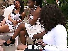 white slaves licking black pussies