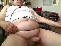 Hot Grandpa wanking