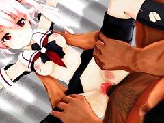 KanColle övervakningsmekanism - liten och nätt flicka knullad av enorma kuk