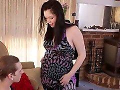 Schwangere aussie bekommt cum