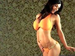 Denise Milani sexy Orange Bikini - non nude