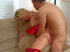 Nice and round tits fuck by wild bigcock