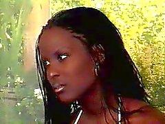 Gravida Ebony skönhet körd & Belly cummed