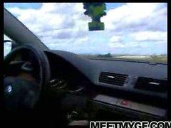 Sıcak bebek arabada emme horoz