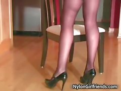 Capri Ander in nylon stocking