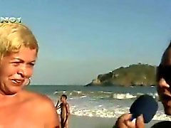 Real Naakt Beach Braziliaanse TV Report - Mulher Melao