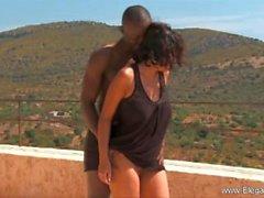 Afrikkalainen Sex tyylin Ulkosuihku