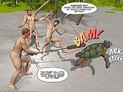 Di nuovo Adventures of Cabina Ragazzo che 3D di Gay Comix