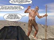 Новые приключения юнга 3D парней Comix