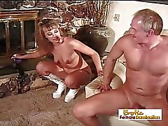 Mature Guy Cums Only After A Pegging