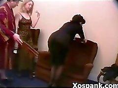 Versaute Erotische Prügelstrafe Rhythmisch Spielen
