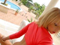 Karina Grand in gonzo creampie sex scene by All Intern