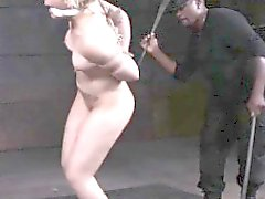 Inked suspended sub caned by master