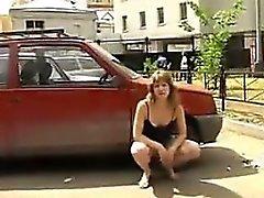 Russian Woman Flashing