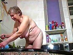 abuela tiene una ducha de
