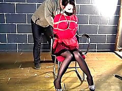 Dress Red servidumbre A Hottie del asiática