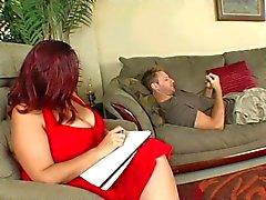 Großen titted Dicke Frauen Therapie bei seinen Schwanz