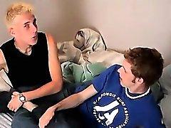 Sexigt gay Två Twinky mul- Kärleksfull vänner Att