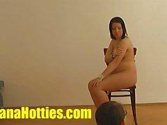 Linda del 19yo mamá en su primer casting la pornografía