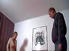Gammala Couple Från och Tyskland Att stygga