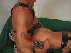 Kinky blonde whore spanked and rocked