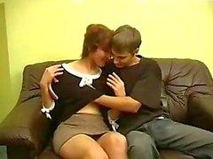 Moden Kvinde e Ung Fyr - Mulher Madura & Young Boy 10