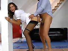 Hot teen in nurse uniform fucks oldy