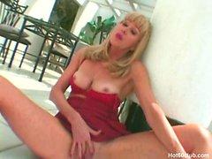 Sexy blonde mature granny milf hardcore fucking and blowjob facials