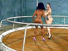 FPZ3d M vs G Catfight toon briga Girlfight