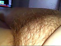 wifes big tit & ripe nipple, hairy pussy,