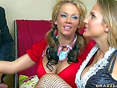 Nikki Sexx and Alanah Rae get banged after costume party