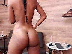 Sexig amatörflicka striptease webbkamera