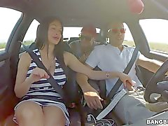 Lovely Aletta Ocean give car blowjob
