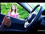 BBC Schwanz blinken Mädchen beobachten schwarzen Kerl masturbieren im Auto