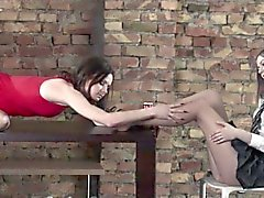 Amazing lesbians fuck with strapon