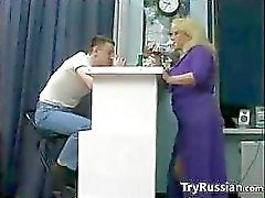 Fälliger Blondine Russe Hure