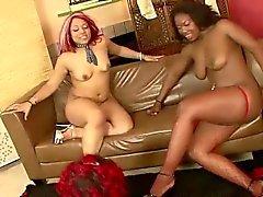 Great ebony lesbian orgy