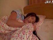Asian Sleeping Chick Teased