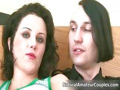 Sexy brunette girl gets horny sucking part5
