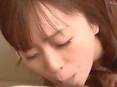 Semen en la boca durante chupadora muy de Nozomi Liliana