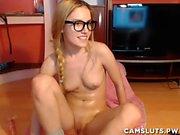 webbkamera för Cutie finslipning och leker dildo