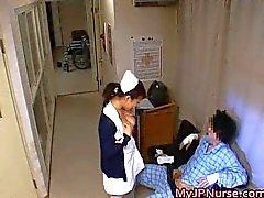 Japanese nurses sucking