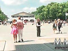 MMVFilms blonds allemande baisée en public
