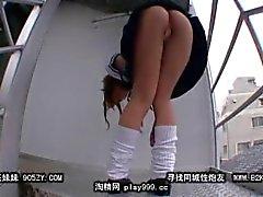 Yumesaki Kanon Upskirt On Stairs