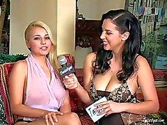 Jeune blonde Jelena Jansen a dispose entrevue remous in close up