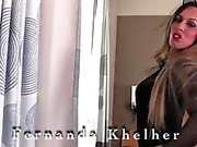 Curvaceous glamour transgirl Fernanda Khelher hot solo