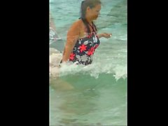 Spy Beach Mature busty Milfs and saggy Grannys Compilation