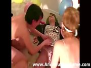 Amateur party game leads to girls stripping