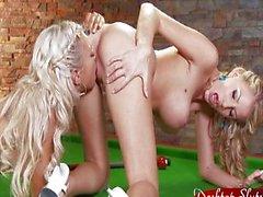 Ashley Bulgari With Super Hot Blond Lesbian